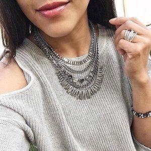 Stella & Dot Amelia Sparkle necklace, silver
